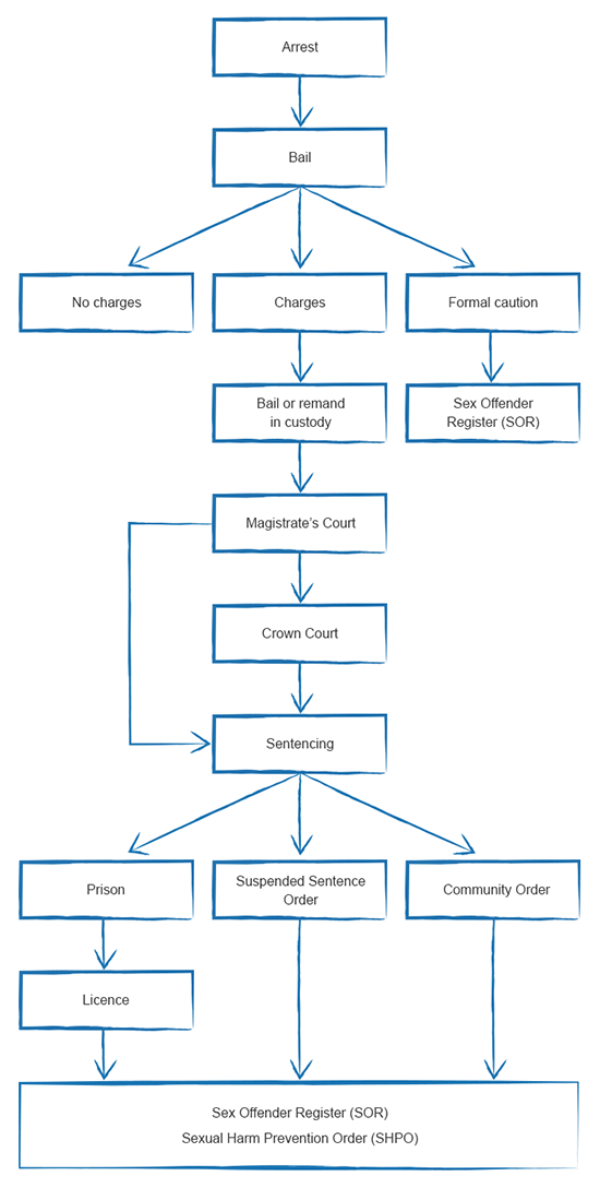 Criminal Justice process diagram